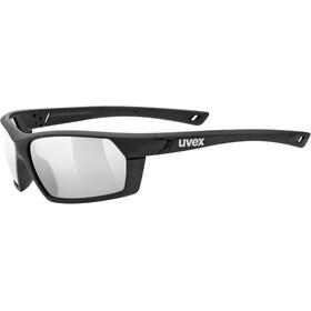 UVEX Sportstyle 225 Glasses black mat/litemirror silver